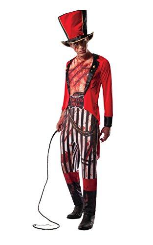Lion Tamer Circus Zombie Halloween Kostüm für Erwachsene Standard-Größe ()