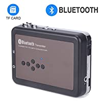 DIGITNOW!Cassette Recorder-Personal Digital Bluetooth Tape Cassette Player-Cassette to Mp3 Converter for Walkman Cassette Audio Music- Cassette Recorder with Earphones