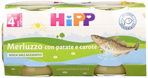 Hipp Omo Merluzzo con Patate e Carote 24 vasetti da 80 g