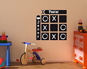 Bilderdepot24 Blackboard Home Sticker Removable Wall Decal Chalkboard Stickers Tic Tac Toe , 2 pc. of chalk included - New and unique professional 1A+ quality good, directly from the German manufacturer