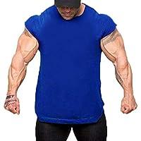 zarupeng Camisetas Hombre,Hombres Camisetas de Músculo,Slim Fit Camiseta de Manga Corta de
