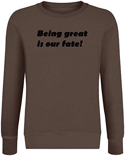 Groß Sein ist unser Schicksal! - Being Great is Our Fate! Sweatshirt Jumper Pullover for Men & Women Soft Cotton & Polyester Blend Unisex Clothing XX-Large
