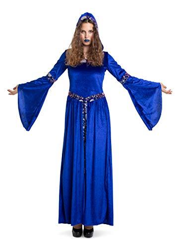 Folat 63413 Dark Moon - Vestido de bruja para mujer (talla XXL), color azul