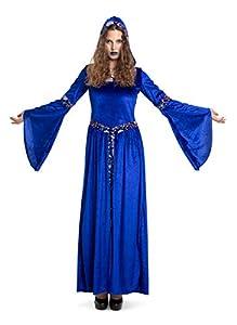 Folat 63411 Dark Moon - Vestido de bruja para mujer (talla S-M), color azul