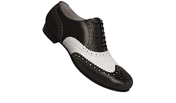 0bd6bd7092ce Aris Allen Men s Wide (EEE Width) 1930S Black and White Spectator ...