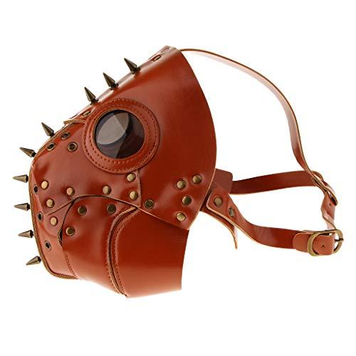 F Fityle Vogelmaske Vogel Maske venezianische Schnabelmaske Pestmaske Doktor Arzt Kopfmaske Ledermaske Party Fasching Cosplay ()
