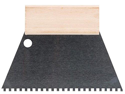 Toolland HE924180 Zahnspachtel, 4 mm x 4 mm, 180 mm Breite