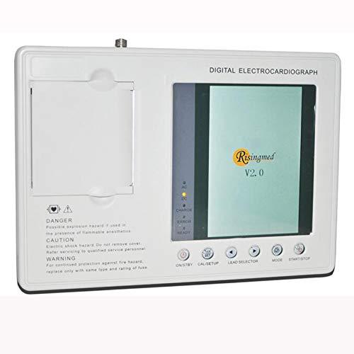 messgerät Digital 12-Kanal-EKG-EKG-Gerät mit 3 Kanälen und Druckerpapier ()