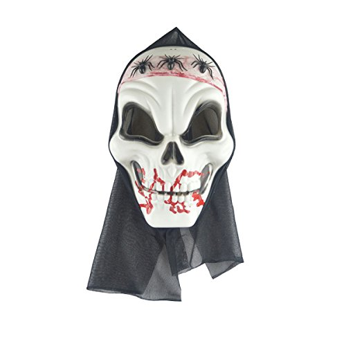 BESTOYARD Halloween Horror Skull Erwachsenen Maske Drei Spinnen Skeleton Scary Kostüm Party Requisiten Screaming Leichen Kopf Maske