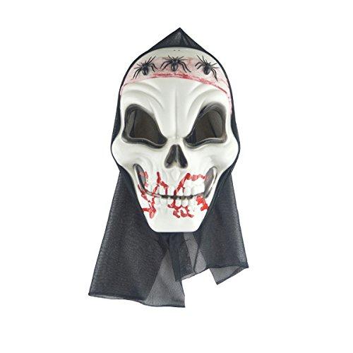 BESTOYARD Halloween Horror Skull Erwachsenen Maske Drei Spinnen Skeleton Scary Kostüm Party Requisiten Screaming Leichen Kopf ()
