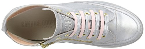 Candice Cooper Mid.stringhe.zip.liquid.nappa, Baskets hautes femme Rose - Pink (rosa)