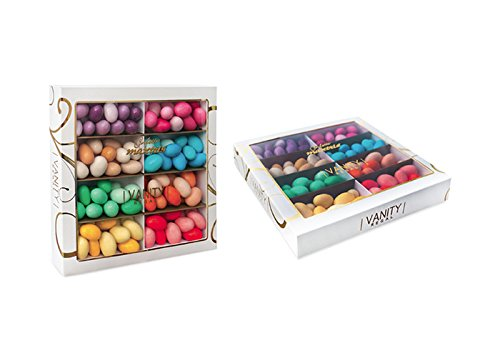 Maxtris Sfumati Vanity Regal - Peladillas de almendra recubierta con chocolate de varios colores,...