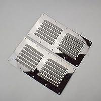 Ting Ao 2 Rejillas de Ventilación para Rejilla de Ventilación con Ventilación de Acero Inoxidable