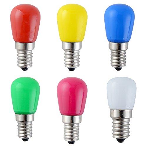 big Lampe 2Watt E14 Birne Beleuchtung Glühbirne Leuchtmittel Für Partybeleuchtung Biergartenbeleuchtung (Farbenfroh) (Farbige Glühbirnen)