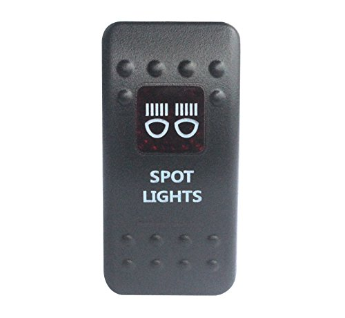 bandc Spot Lights Rocker Toggle Switch On/Off SPST rot LED 5 Pins für Narva ARB Carling Stil Ersatz Wasserdicht IP66 Auto Boot 12 V/24 V (Single-pole-licht-schalter)