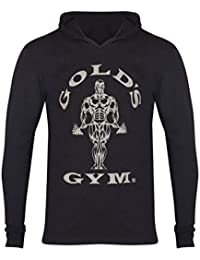 El gimnasio del oro augastes manga larga camiseta Negro negro Talla:XL