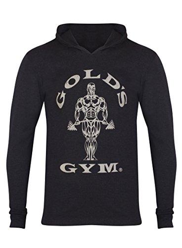 Golds Gym Kapuzen-Shirt, langärmlig schwarz