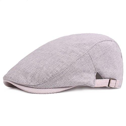 Jovitec 2 Piezas de Sombrero de Verano de Malla Respirable Gorra de Hombre Sombrero de Caza Vendedor de Periódicos, Negro, Blanco