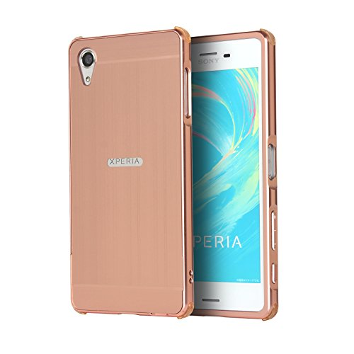 aibulor-pc-metal-dual-material-phone-armor-bumper-protictive-case-cover-for-sony-xperia-xz-rose-gold