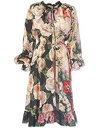 Dolce E Gabbana Vestito Donna F66ATTGDK85S9310 Seta Multicolor 26184908492b