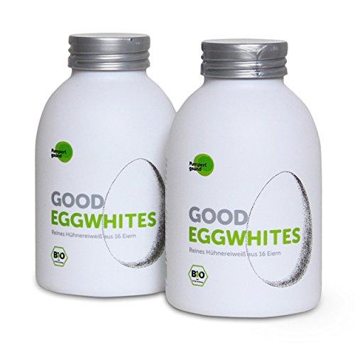 """Image of Good Eggwhites 2 x 483 ml (Bio Eiklar) • aus """"Die Höhle der Löwen"""" • Flüssiges Eiweiß • Gesund Abnehmen & Muskelaufbau • Protein Shakes • Low Carb • PUMPERLGSUND"""