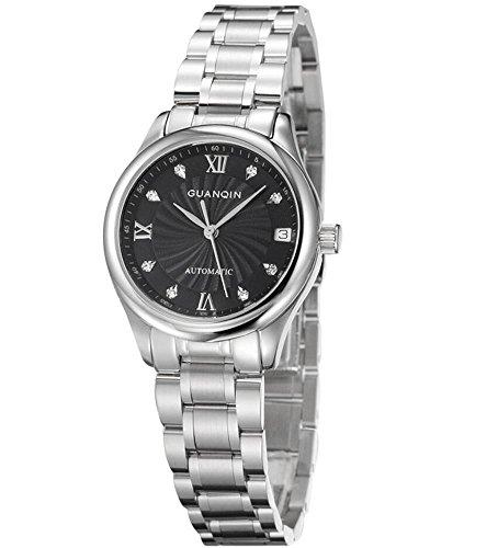 GUANQIN Women 's orologio meccanico in acciaio inossidabile Strap GQ80006-1A , 1 - Womens Diamante Orologio Automatico