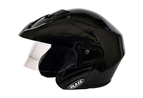 Mototrance-Blaze-Trace-Open-Face-Helmet-Black