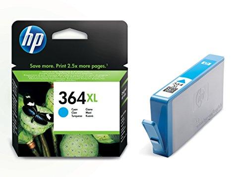 HP 364XL Blau Original Druckerpatrone mit hoher Reichweite für HP Photosmart, HP Officejet, HP Deskjet (Hp 7 Plus)