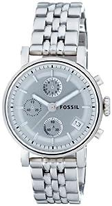 Reloj Fossil ES2198 de cuarzo para mujer con correa de acero inoxidable, color plateado de Fossil
