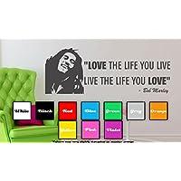 Bob Marley, Love The Life You Live-Adesivo da parete con scritta