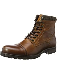 JACK & JONES Jfwmarly Leather Cognac, Botas Clasicas Para Hombre
