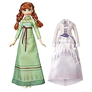 Hasbro Disney Frozen 2 Fashion + Extra Vestido Anna, Multicolor, E6908ES0