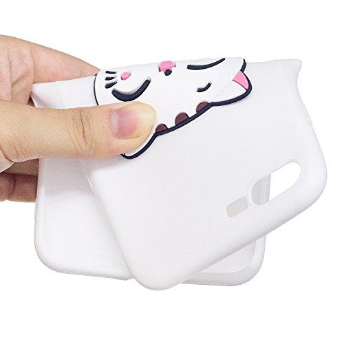 EUWLY Silicone Custodia per iPhone 7 Plus/iPhone 8 Plus (5.5), 3D Creativo Cute Cartoon Animale Solid Modello TPU Cover Case per iPhone 7 Plus/iPhone 8 Plus (5.5) Ultra Sottile Morbido Silicone TPU  Gatto
