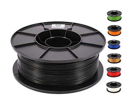 JANBEX PLA (Schwarz) Filament 1,75 mm 1kg Rolle für 3D Drucker oder Stift in Vakuumverpackung