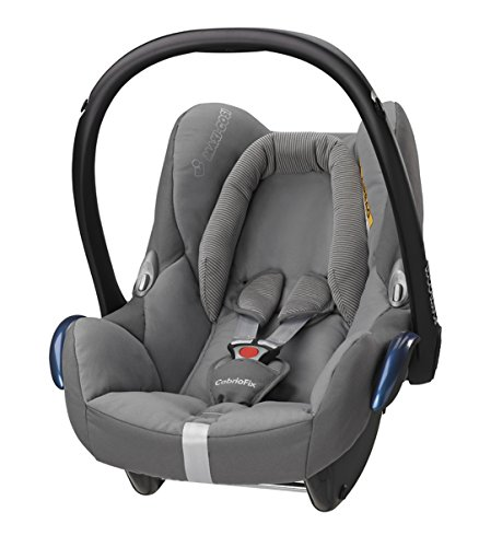 Preisvergleich Produktbild Maxi-Cosi Babyschale Cabriofix, extraleicht, Nutzung im Auto in Kombination mit allen Maxi-Cosi Basisstationen oder mit dem 3-Punkt-Gurt, Seitenaufprallschutz, Gruppe 0+ (0-13 kg), concrete grey