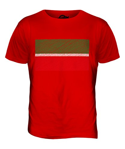 CandyMix Tatarstan Kritzelte Flagge Herren T Shirt Rot