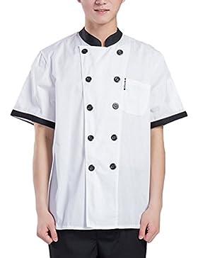 Zhuhaitf Alta calidad White Simplicity Short Sleeve Uniform Unisex Hotel Chef Clothes