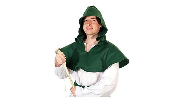 Robin Hood-Arrow-Hero Green Felt Hood MEDIEVAL-RE ENACTMENT-GOTHIC-LARP-COSPLAY