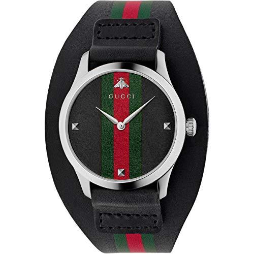 Gucci Watch YA1264092 Reloj de Pulsera Masculino Cuarzo Plata Reloj
