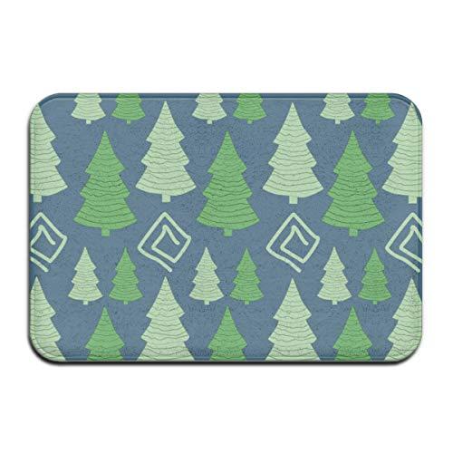 Abigails Home Weihnachtsbaum Teppich Teppich Fußmatte Badezimmer Küche rutschfeste Indoor-Eingang 15,7
