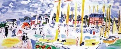 a-deauville-dimanche-di-raoul-dufy-multicolore