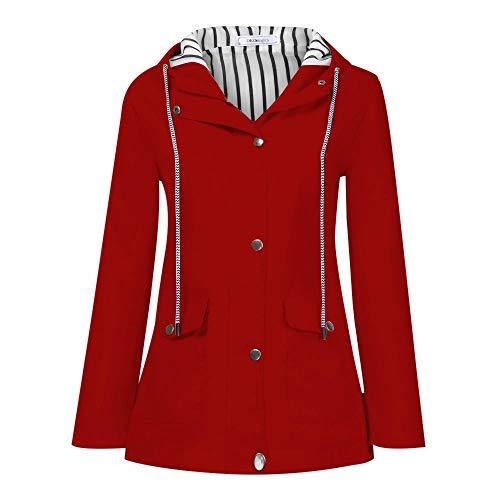 Eucoo giacca da donna autunno inverno cappotto leggero militare anorak safari hoodie jacket raincoat plus size