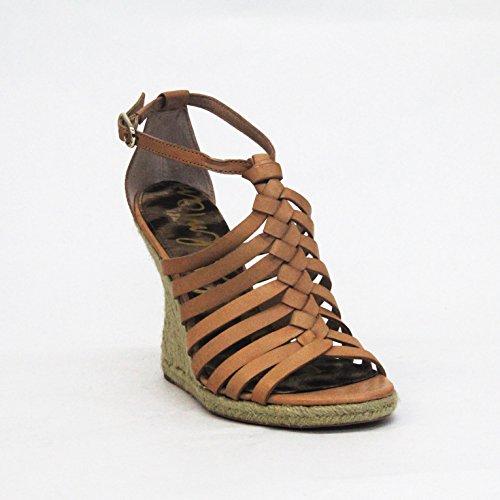 SAM EDELMAN Keilabsatz Offene Zehen Sandale UK 3,5 Hautfarben