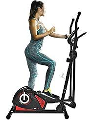 Sportstech Vélo elliptique professionnel CX610 Crosstrainer ergomètre avec commande application Smartphone, poids d'inertie 18KG, FCM, Bluetooth, 12 programmes d'entraînement, 32 niveaux de résistance