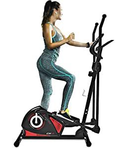 Sportstech CX608 Elliptical Cross Trainer with Smartphone App & Bluetooth Interface, Exercise Bike, Tablet Holder, Pulse Belt Compatible - Ergometer, 12 kg Flywheel, Hometrainer, 3-Way Crank System