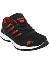 Arexon Men's Synthetic Black Colored Sport Shoe( Men's Running Shoe, Breathable Sports Shoe, High Grip Sports... - B074Q27L1C