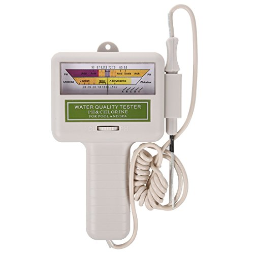 SODIAL (R) Wasserqualitaet PH / CL2 Chlor Level Meter Tester fuer Pool Weiss Spa