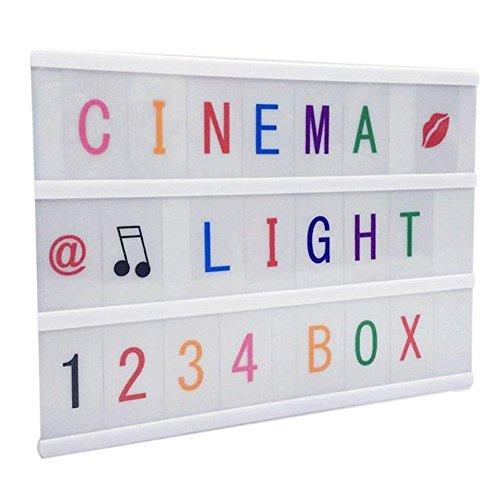 A4Größe wie im Kino Licht Light Up Your Life box-decorative Beleuchtung, mit 90Karten und LED-Licht (Farbe Version) von renoliss (Wie Shop Mit Amazon Geschenk-karte)