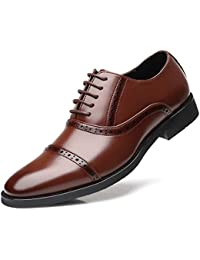 788582ad682 KItipeng Chaussure Homme Cuir —Lacets Derby Mocassin De Ville Homme en  Soldes,Pas Cher
