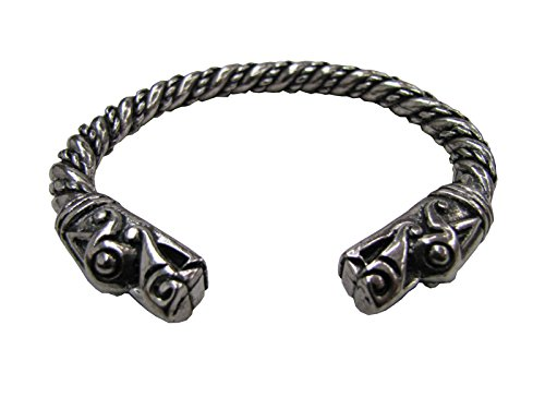 Asgard Large Dragon Bracelet Armreif silberfarben